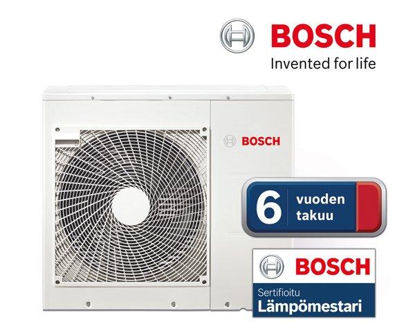 Bosch - ilmalampopumput 6-vuoden takuulla
